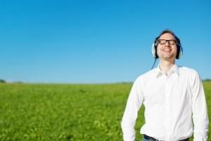 Man listening to music